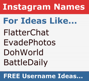 Instagram Name Generator - Get Cool Unique Ideas for FREE Now!