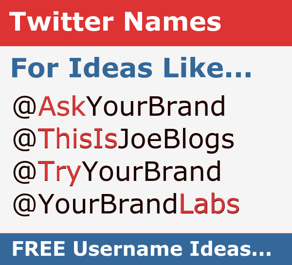 Twitter Name Generator - Names for You, Your Business